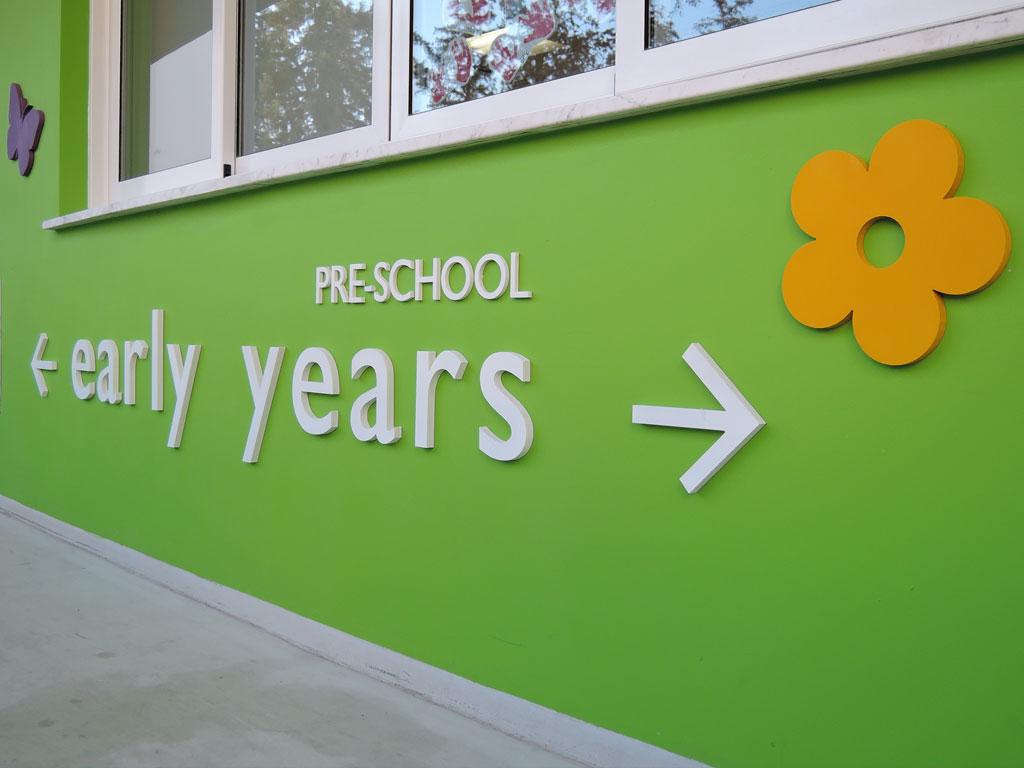 The Junior and Senior School signage